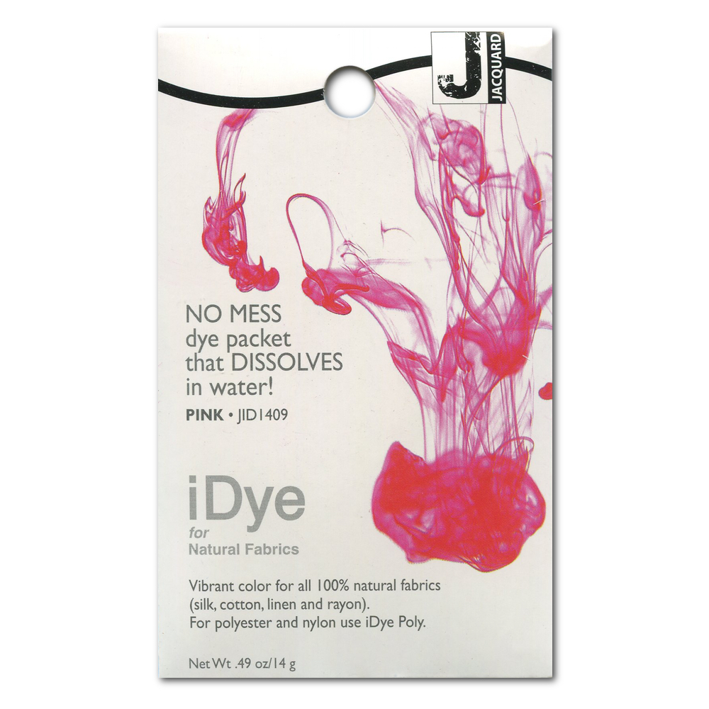 Jacquard Idye Natural Fabric: Pink