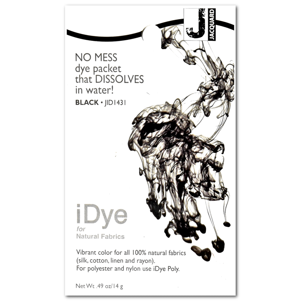 Jacquard Idye Synth Fabric: Black
