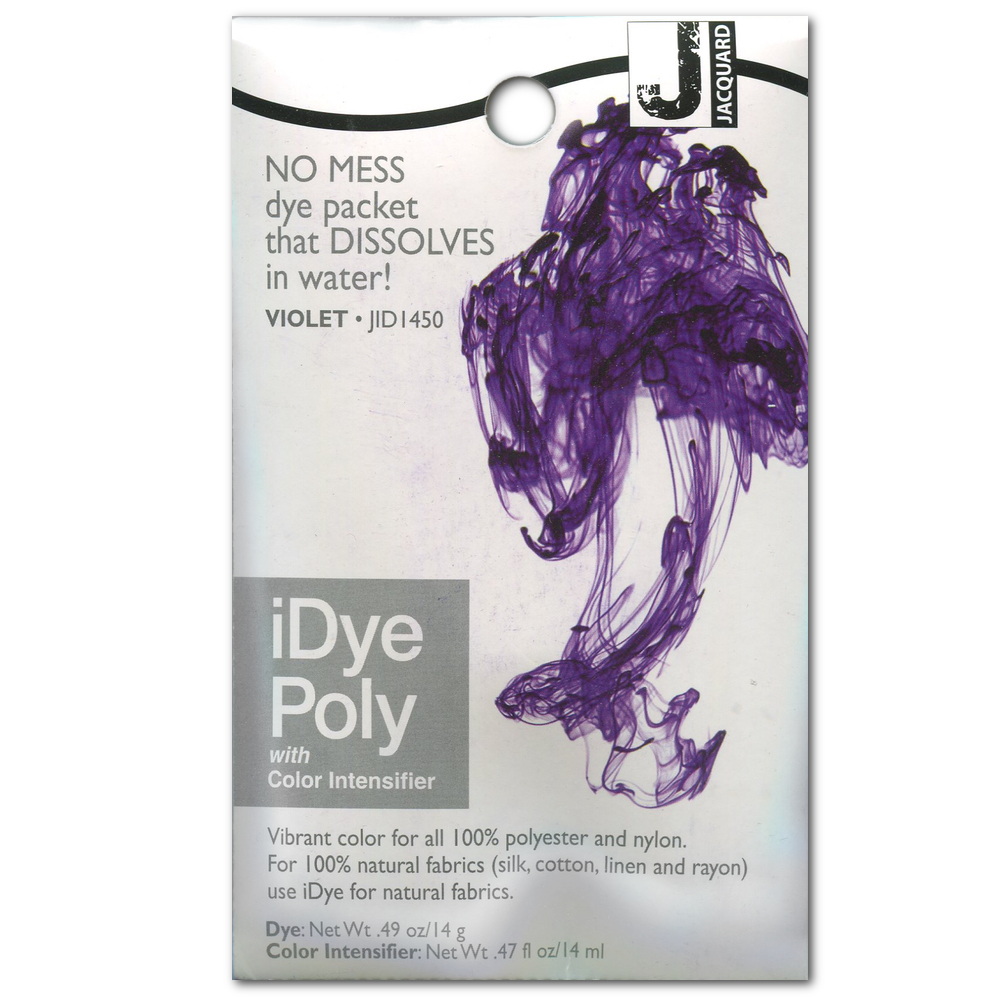 Jacquard Idye Synth Fabric: Violet
