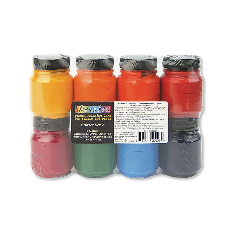 Jacquard Versatex Printing Ink Set #2