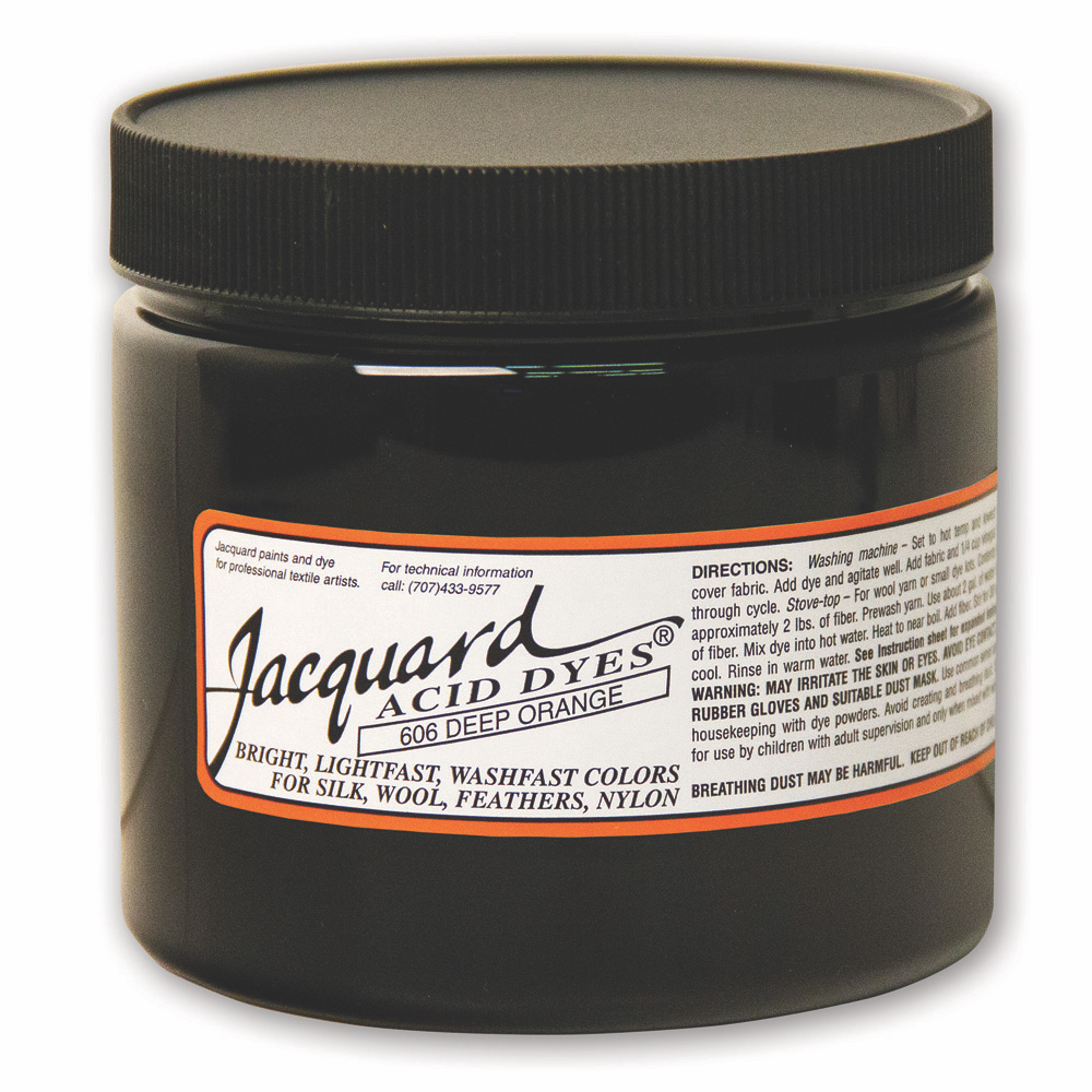 Jacquard Acid Dye 8 OZ #606 Deep Orange