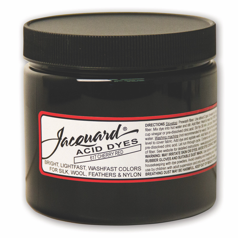 Jacquard Acid Dye 8 OZ #617 Cherry Red