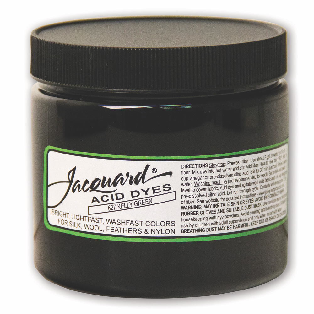 Jacquard Acid Dye 8 OZ #627 Kelly Green