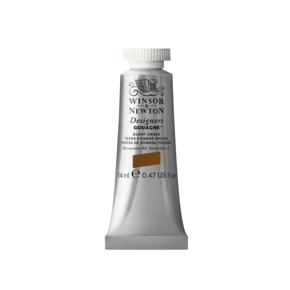 W&N Designers Gouache 14Ml Burnt Umber