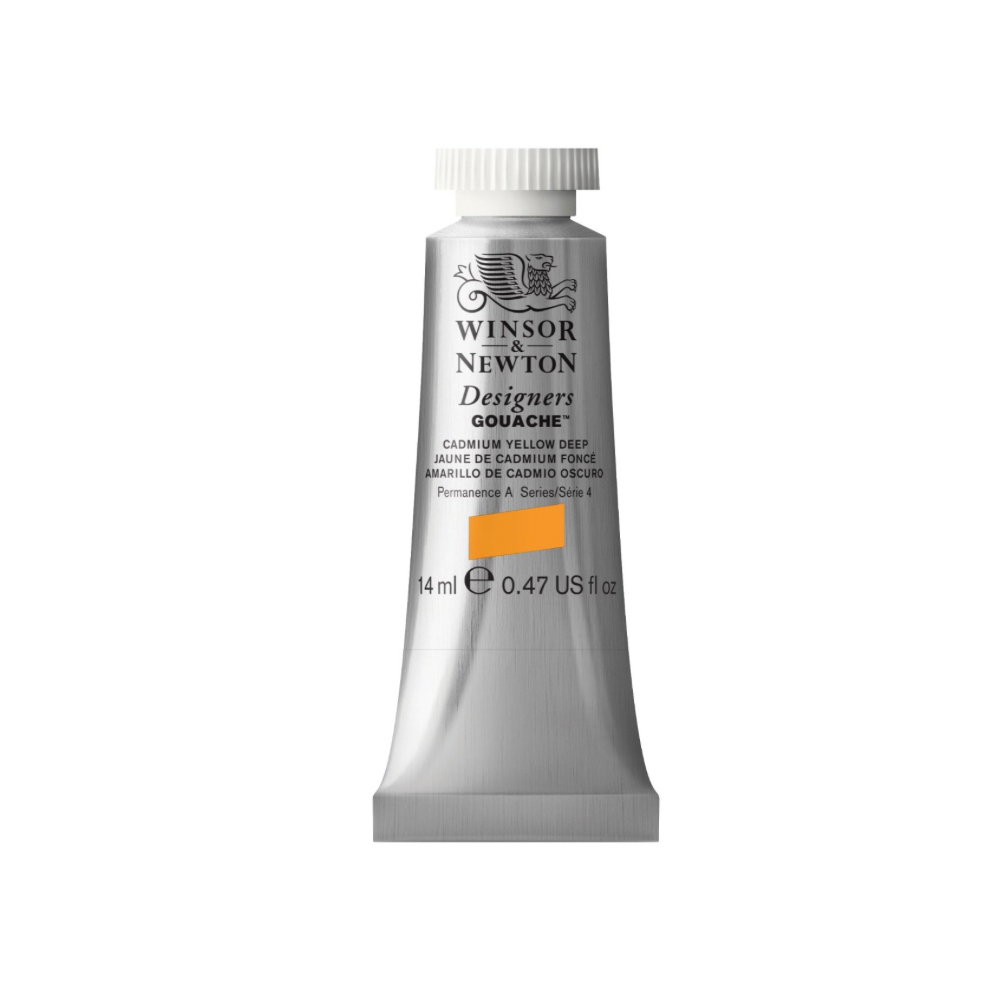 W&N Designers Gouache 14Ml Cad Yellow Deep