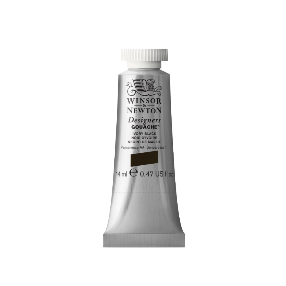 W&N Designers Gouache 14Ml Ivory Black