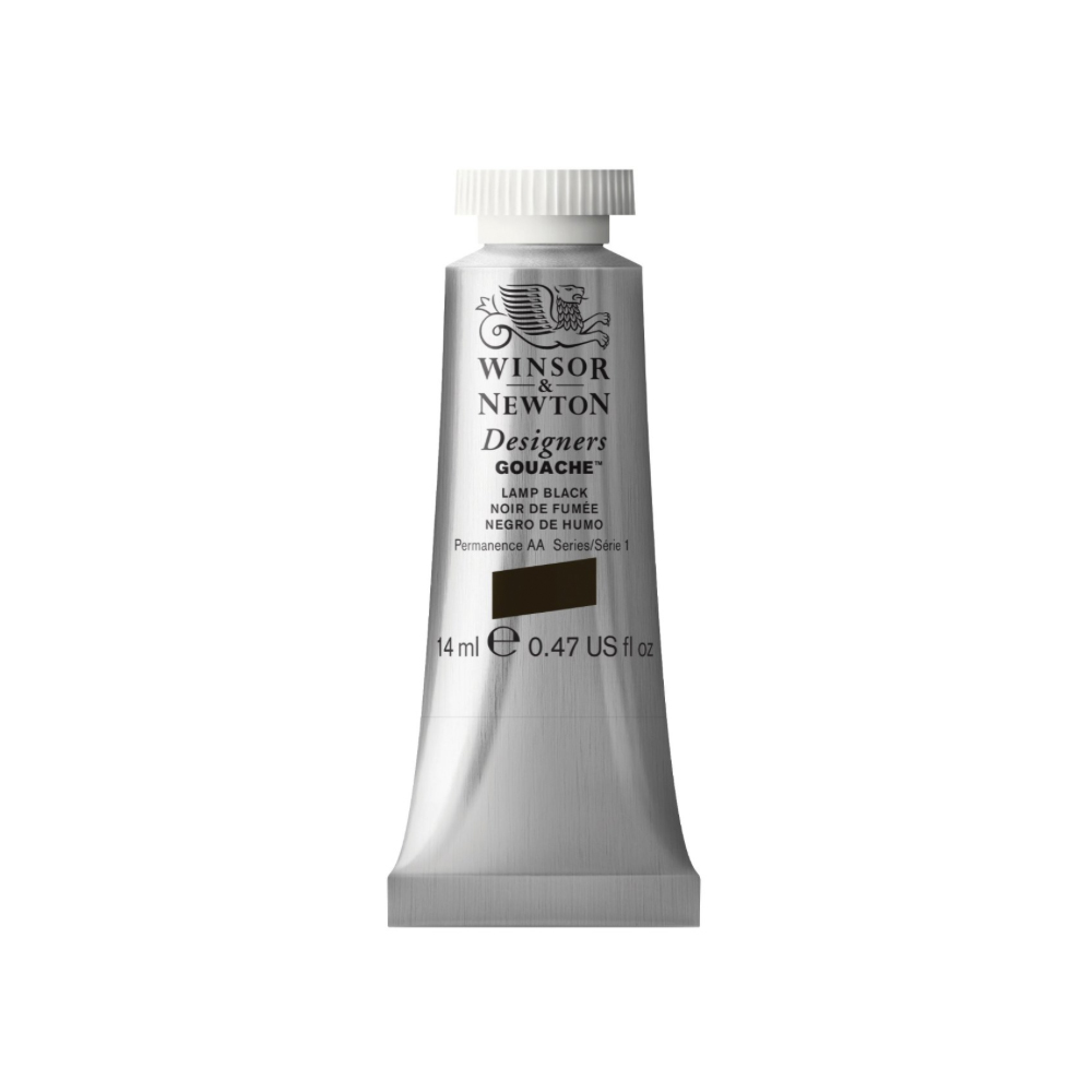 W&N Designers Gouache 14Ml Lamp Black