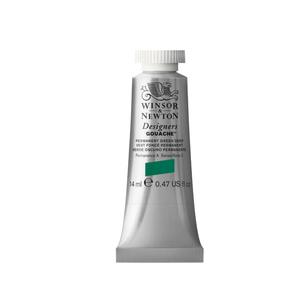 W&N Designers Gouache 14Ml Perm Green Deep