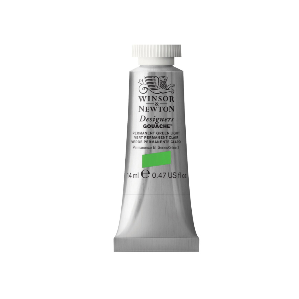 W&N Designers Gouache 14Ml Perm Green Light