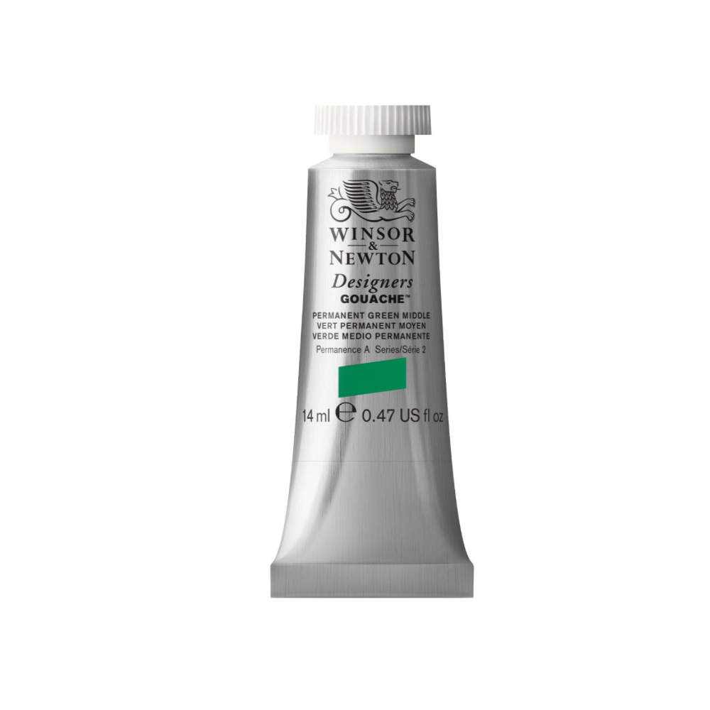 W&N Designers Gouache 14Ml Perm Green Middle