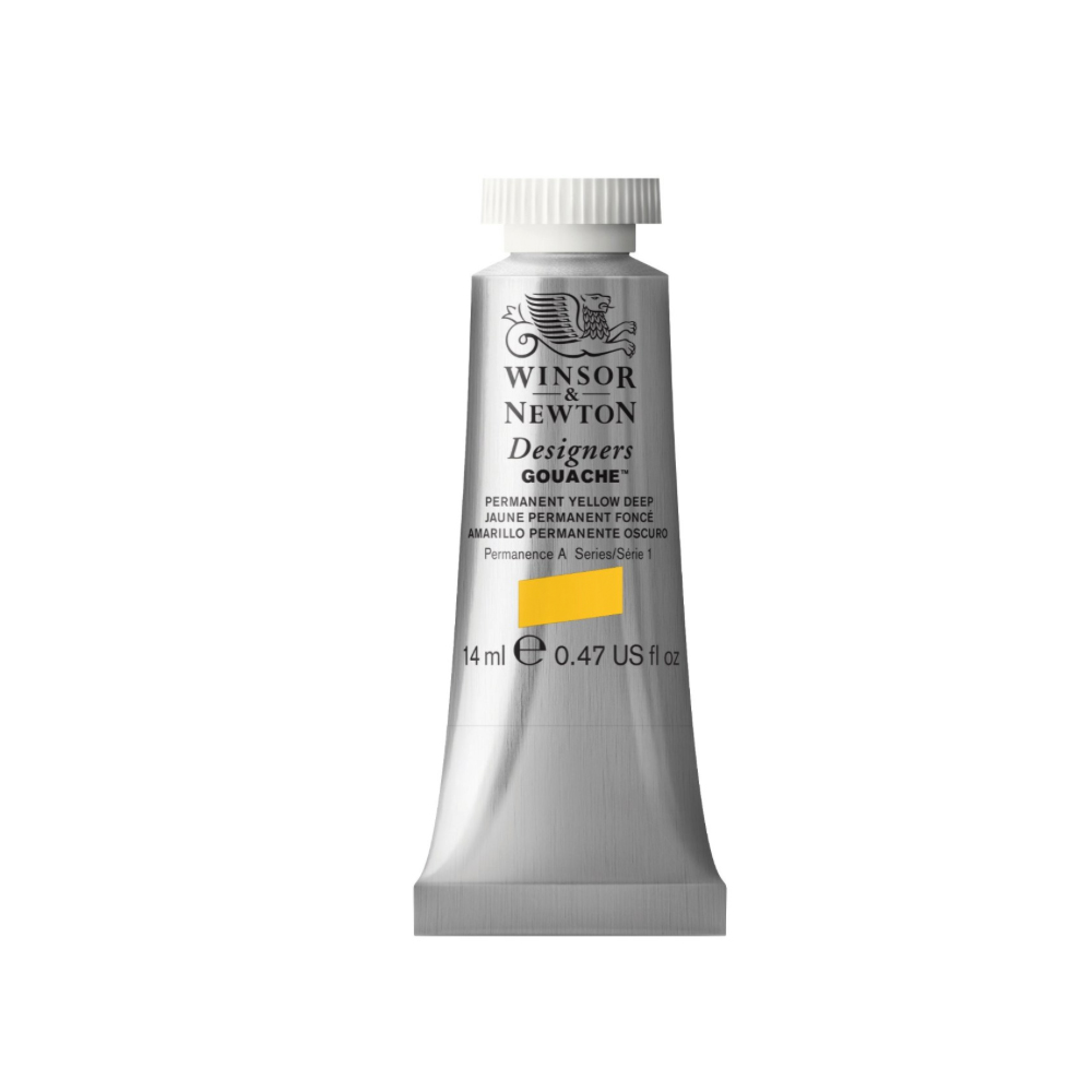 W&N Designers Gouache 14Ml Perm Yellow Deep