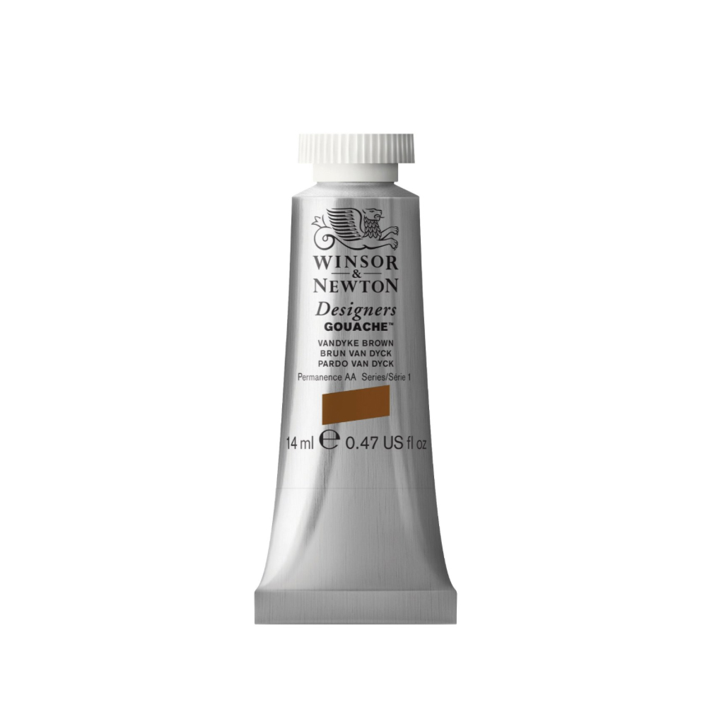 W&N Designers Gouache 14Ml Vandyke Brown
