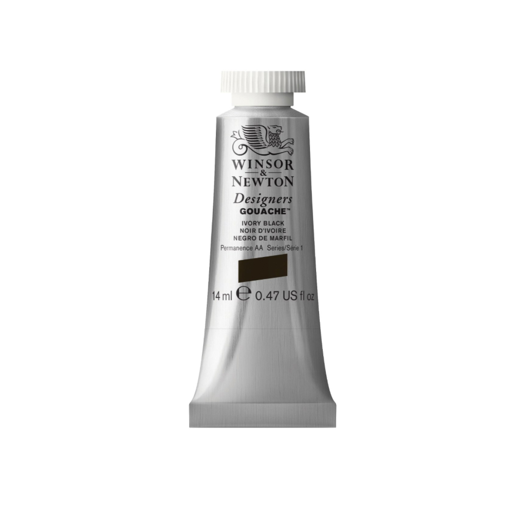 W&N Designers Gouache 37Ml Ivory Black