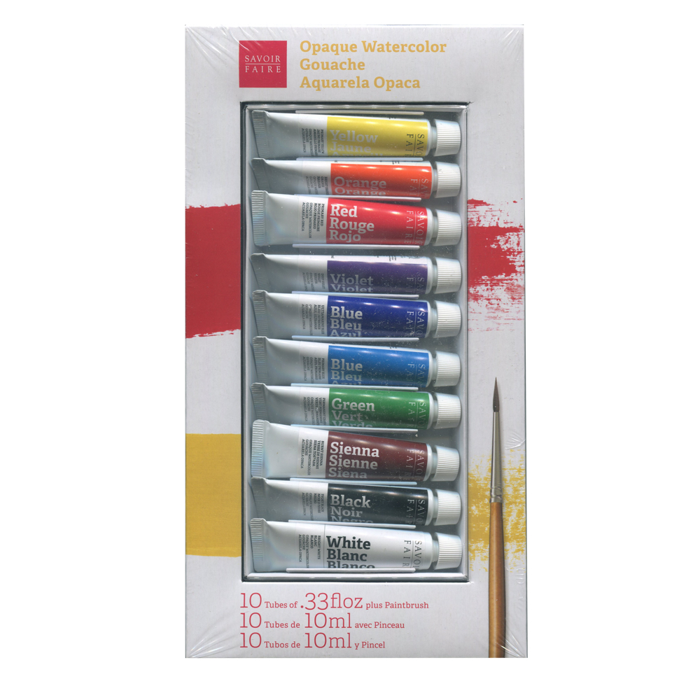 French Gouache 10 Tube Set