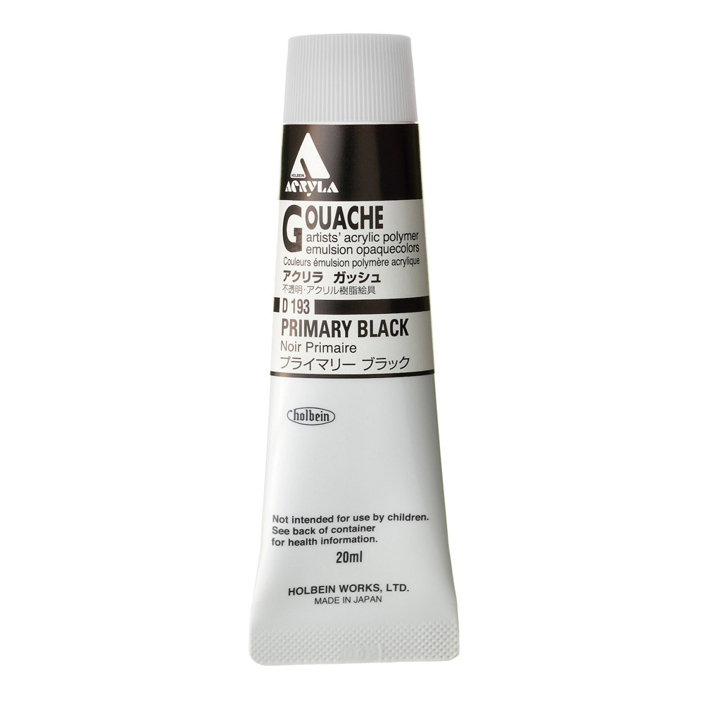 Holbein Acryla Gouache 20ml Primary Black
