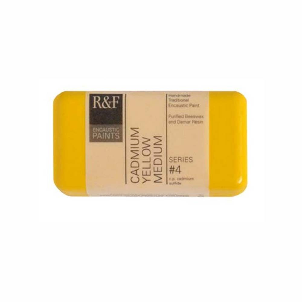 R&F Encaustic 40Ml Cadmium Yellow Medium