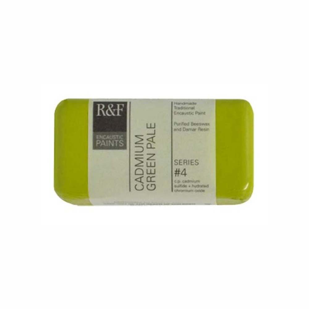 R&F Encaustic 40Ml Cadmium Green Pale