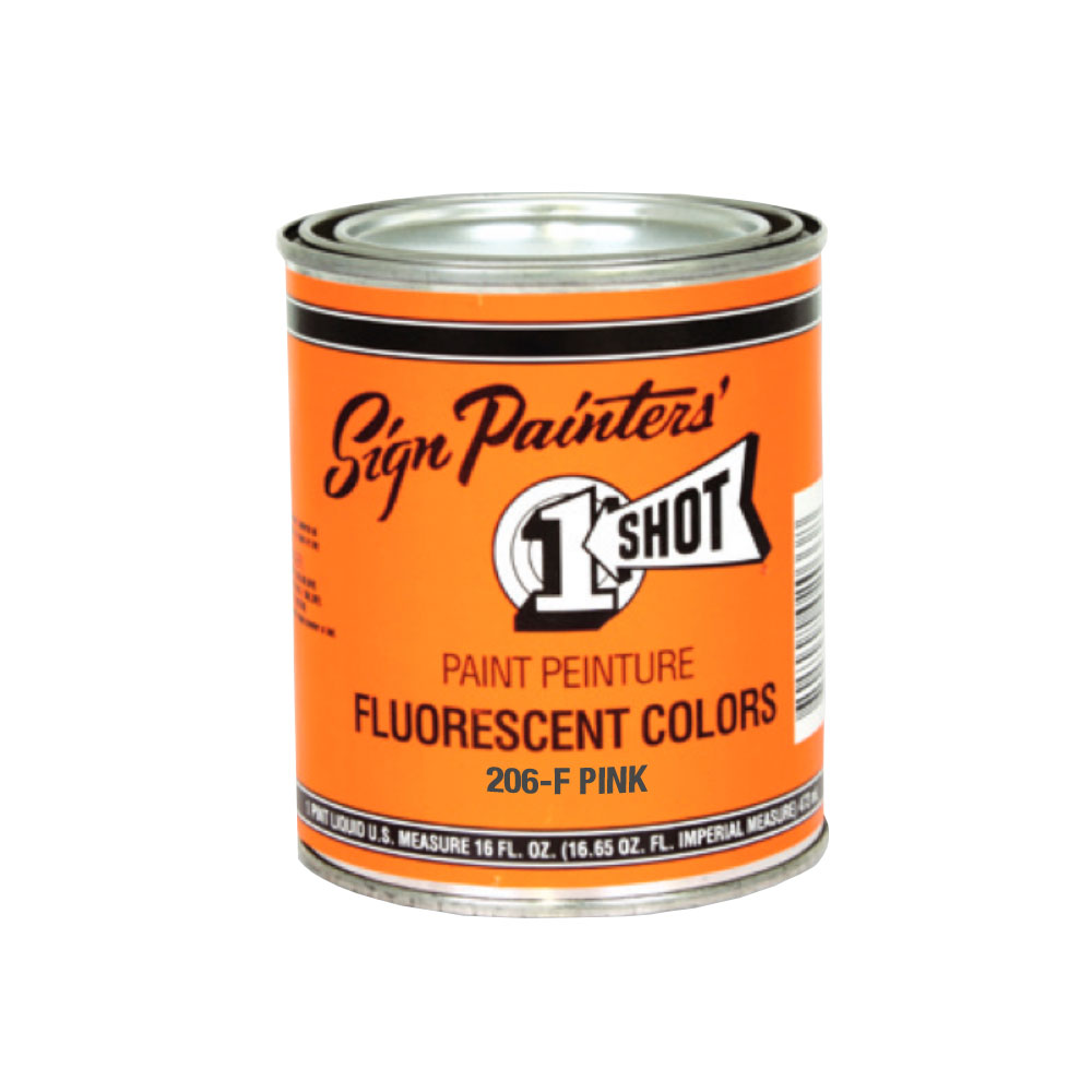 1-Shot 206F Fluorescent Pink 4 Oz