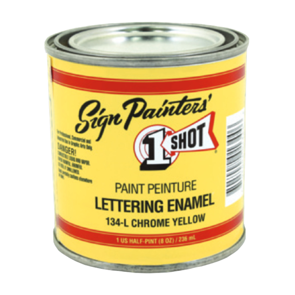 1-Shot Letter Enamel 134L Chrome Yellow 8 Oz