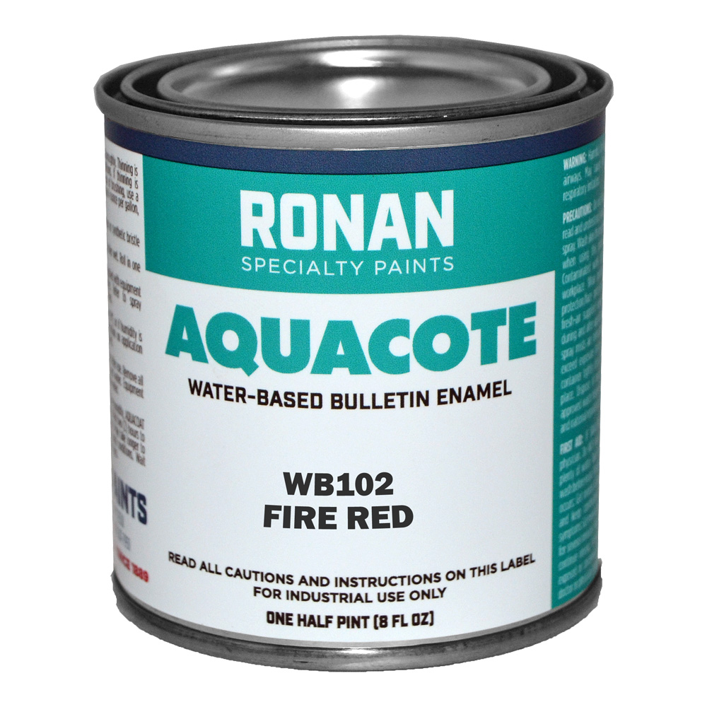 Ronan Aquacote Enamel 8 Oz Fire Red