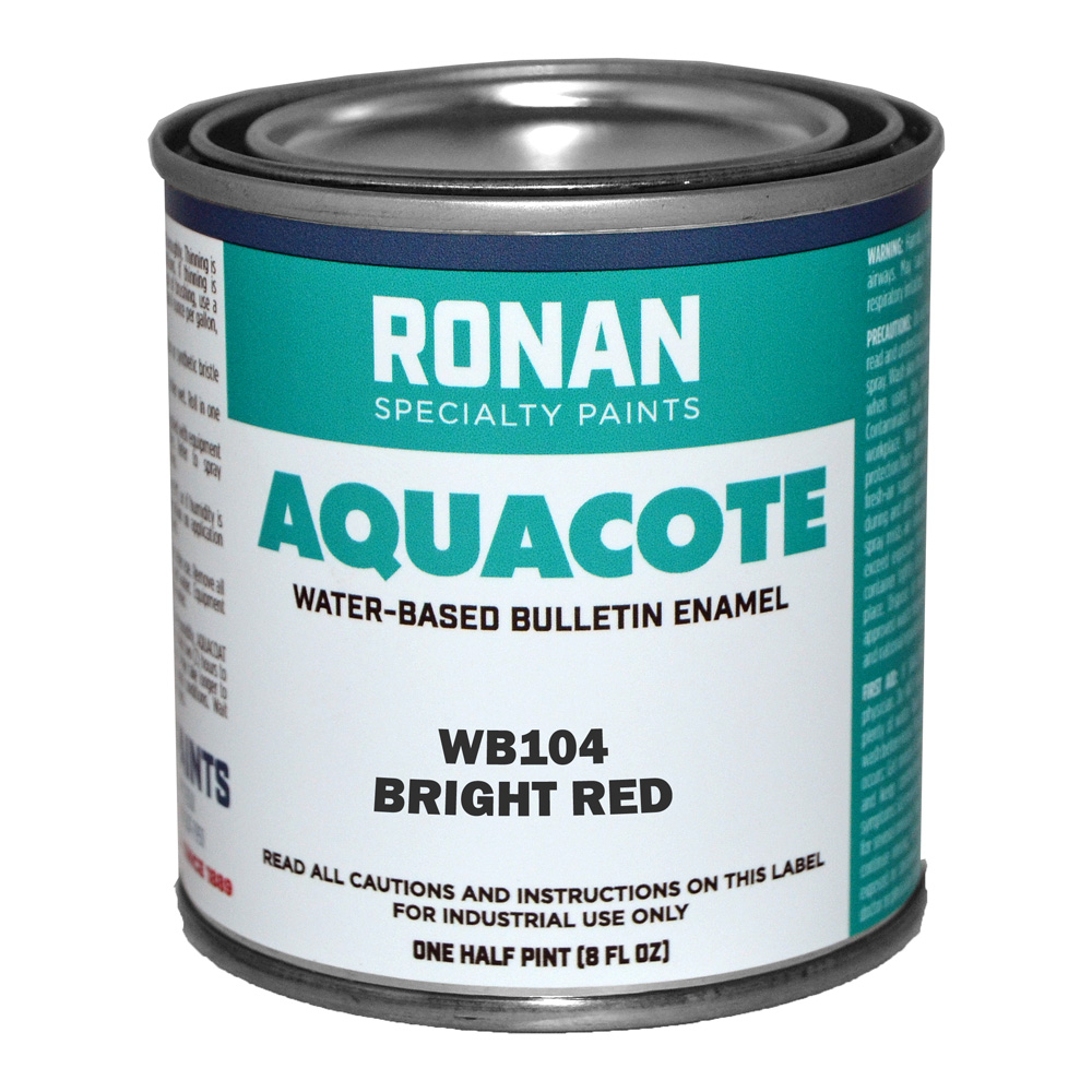 Ronan Aquacote Enamel 8 Oz Bright Red