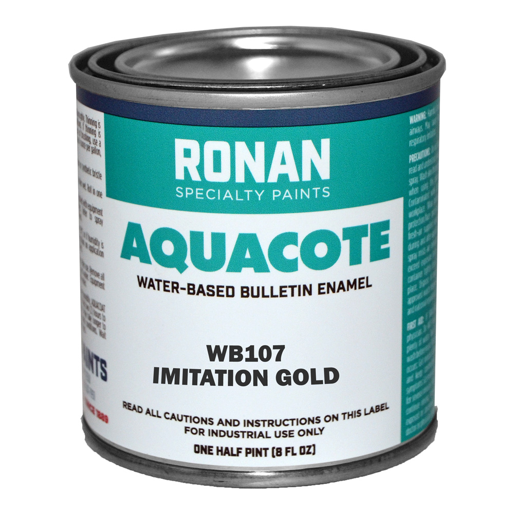 Ronan Aquacote Enamel 8 Oz Imitation Gold