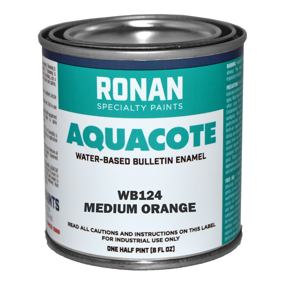 Ronan Aquacote Enamel 8 Oz Medium Orange