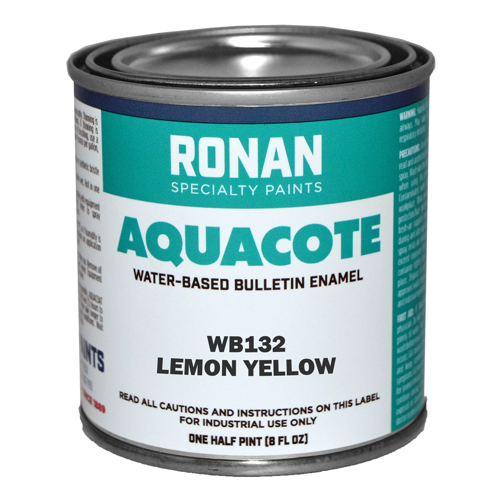Ronan Aquacote Enamel 8 Oz Lemon Yellow