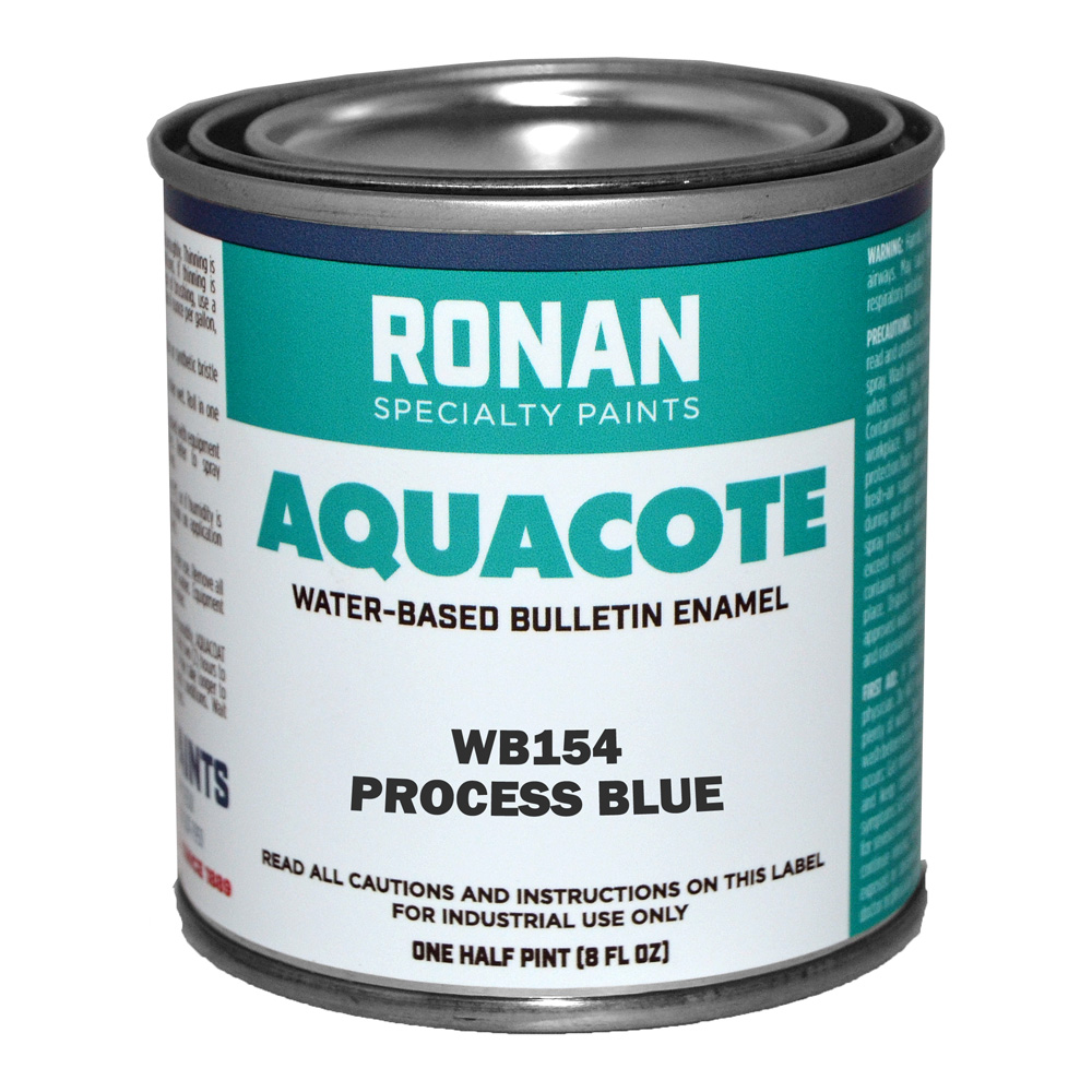 Ronan Aquacote Enamel 8 Oz Process Blue