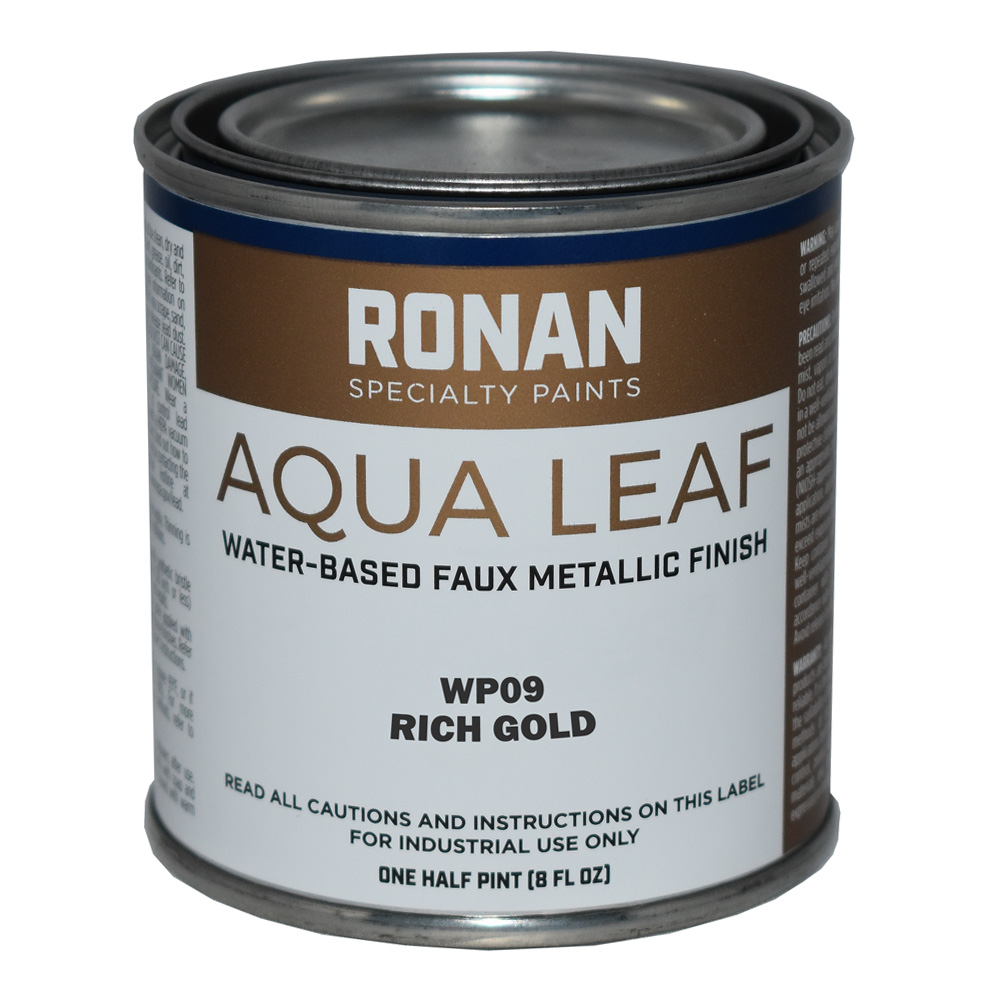 Ronan Aqua Leaf 8 Oz Rich Gold