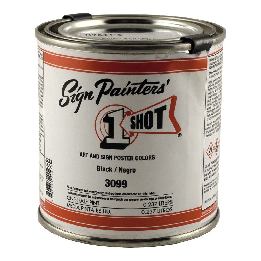 1-Shot Poster Color 3099 Black 8 Oz