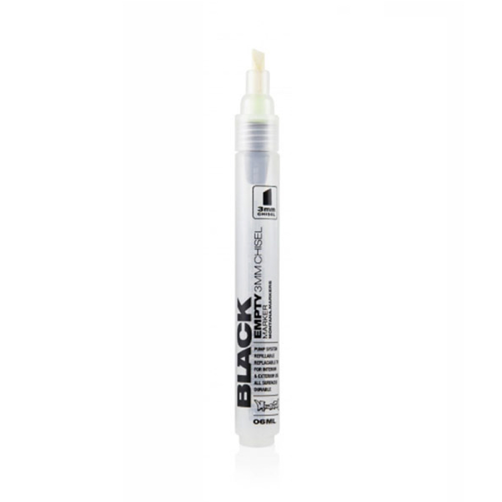 Montana Black Empty Marker 3Mm Chisel