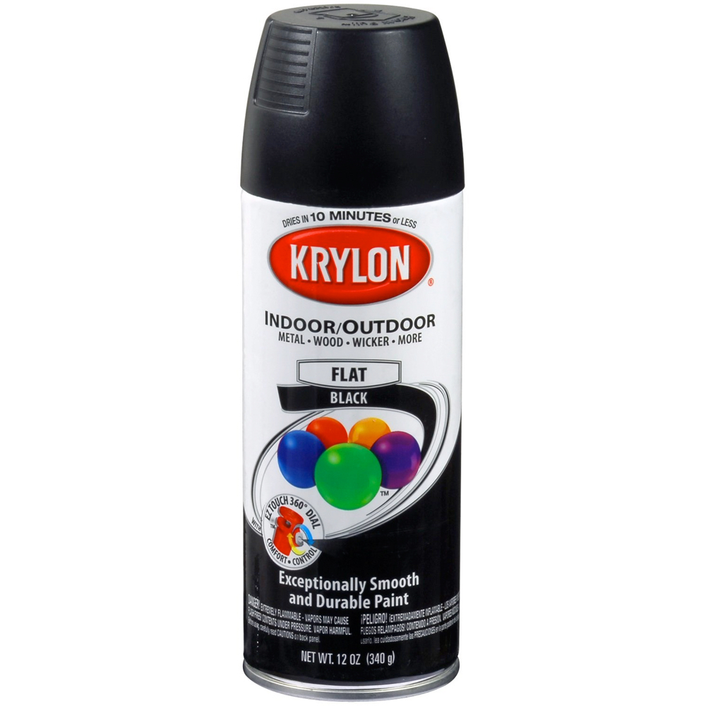 Krylon 12 Oz 1602 Flat Black