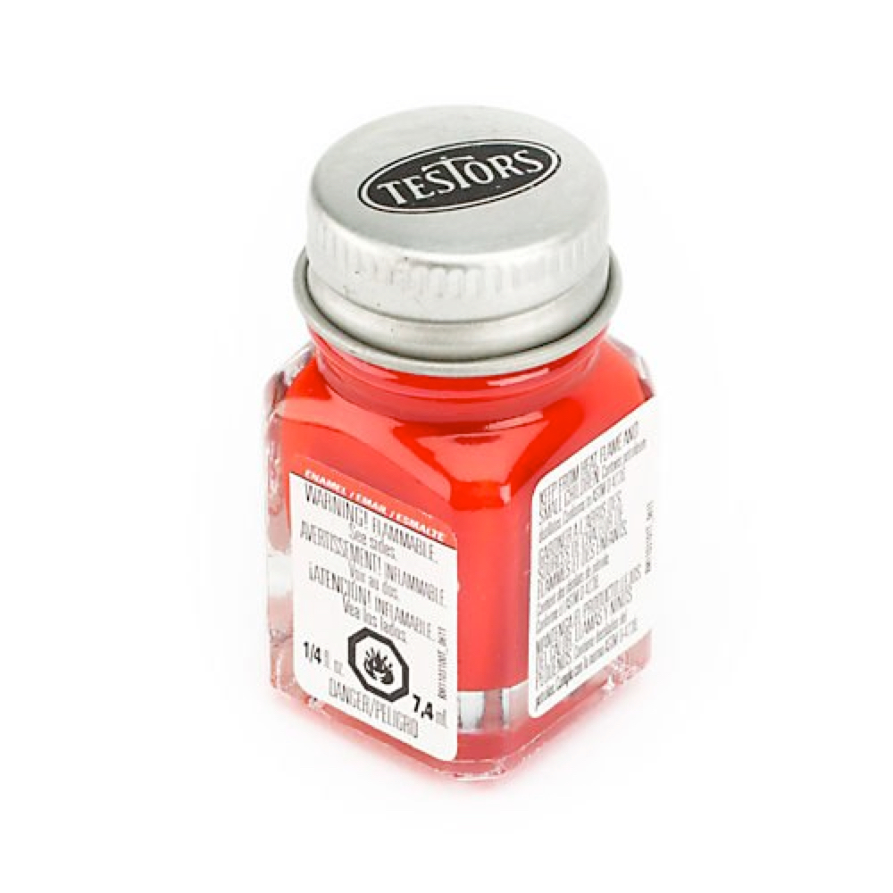 Testors Enamel 1/4 Oz Bottle Red