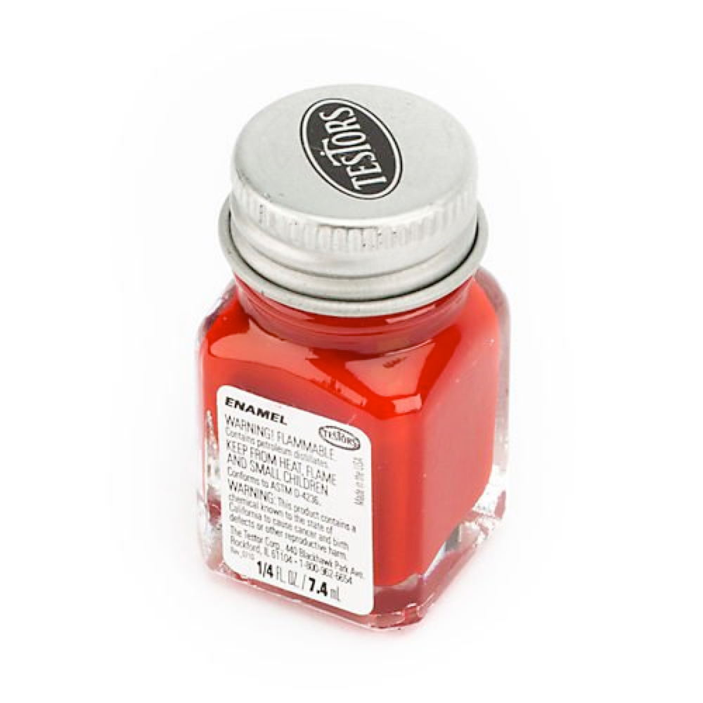 Testors Enamel 1/4 Oz Bottle Dark Red