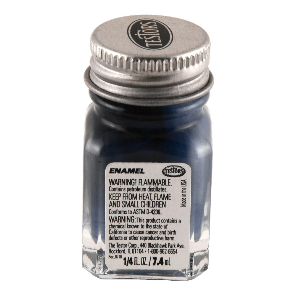 Testors Enamel 1/4 Oz Bottle Blue