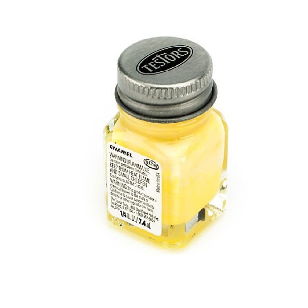 Testors Enamel 1/4 Oz Bottle Light Yellow