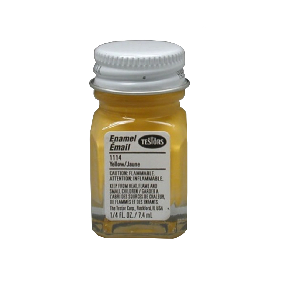 Testors Enamel 1/4 Oz Bottle Yellow