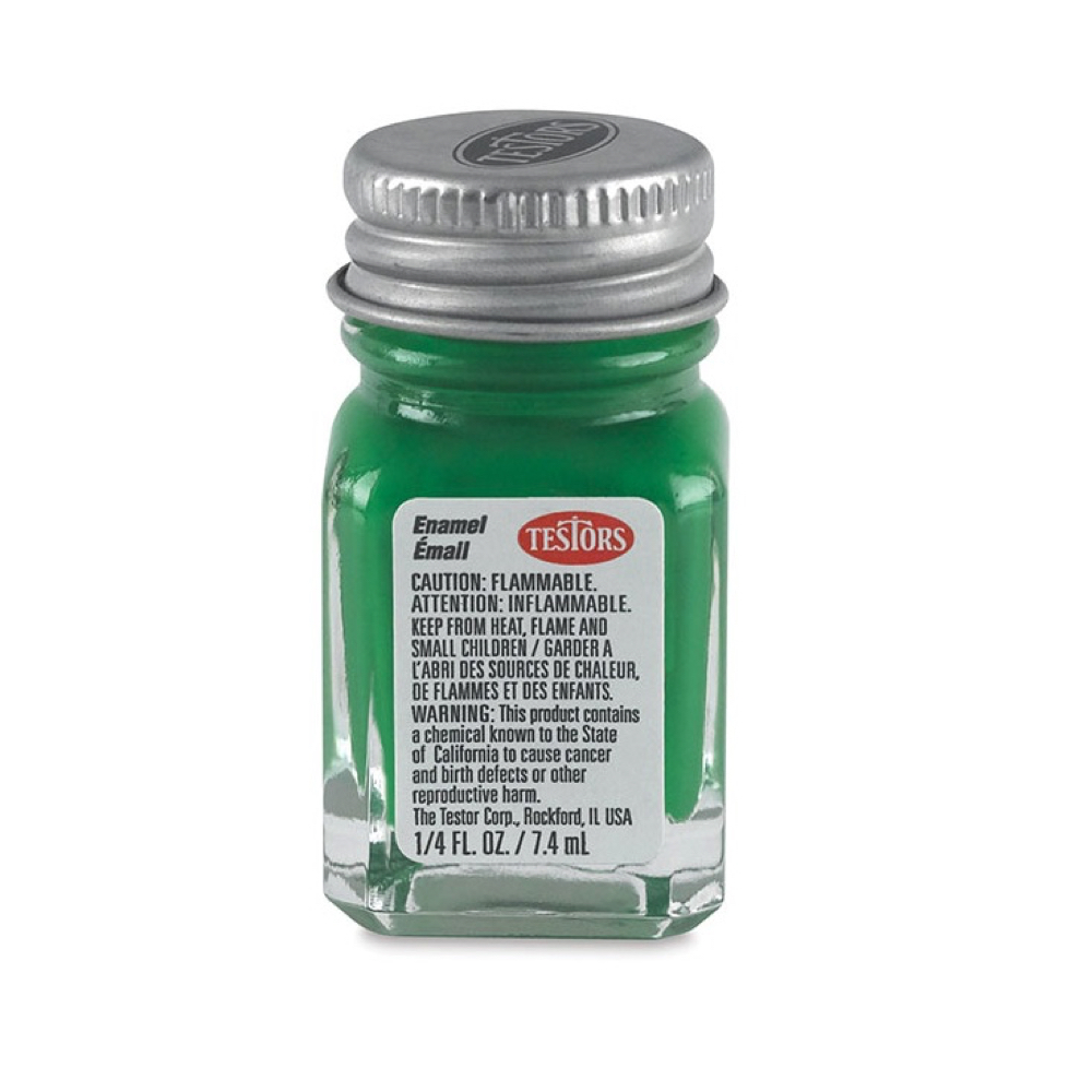 Testors Enamel 1/4 Oz Bottle Green