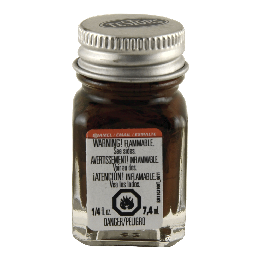 Testors Enamel 1/4 Oz Bottle Light Brown