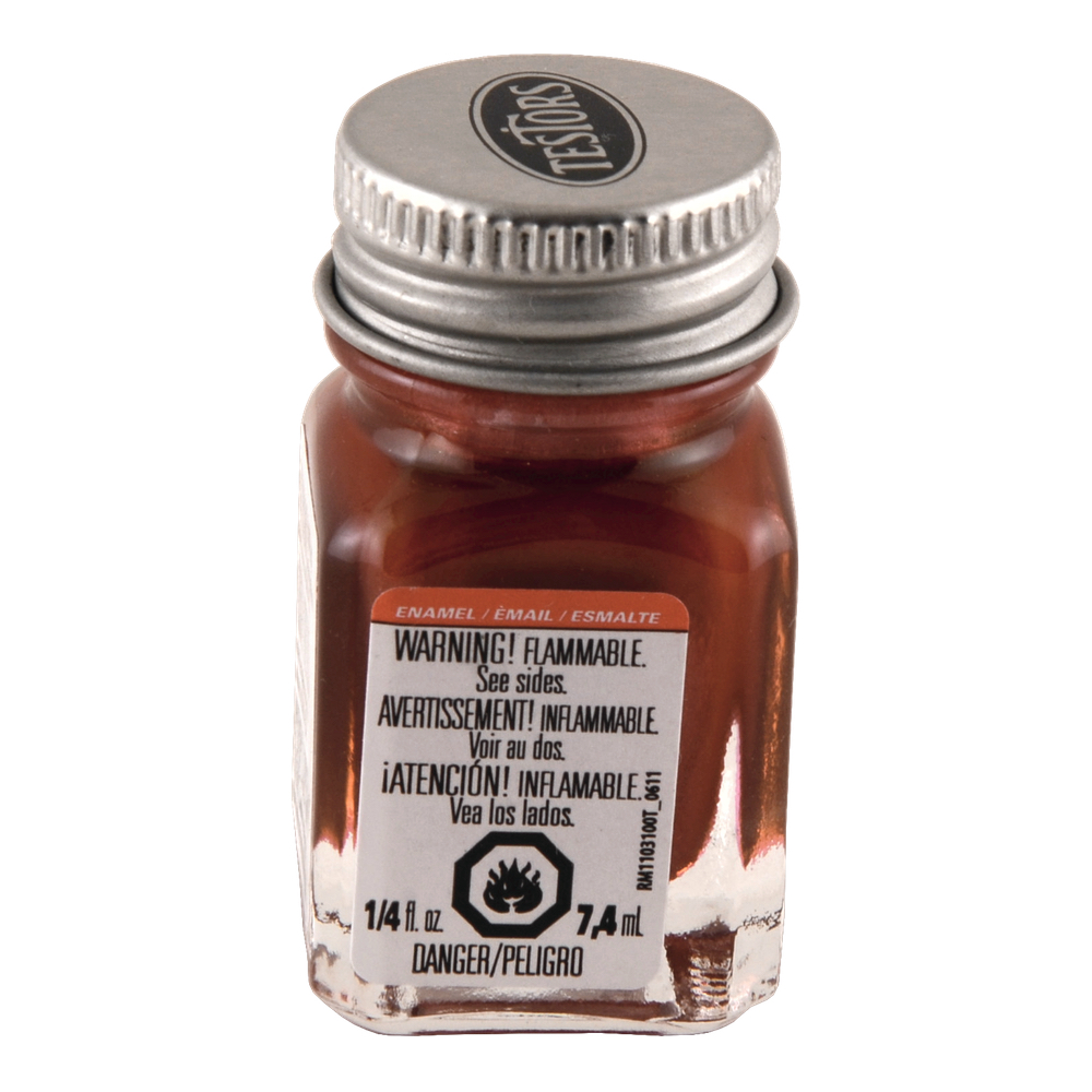 Testors Enamel 1/4 Oz Bottle Metallic Red