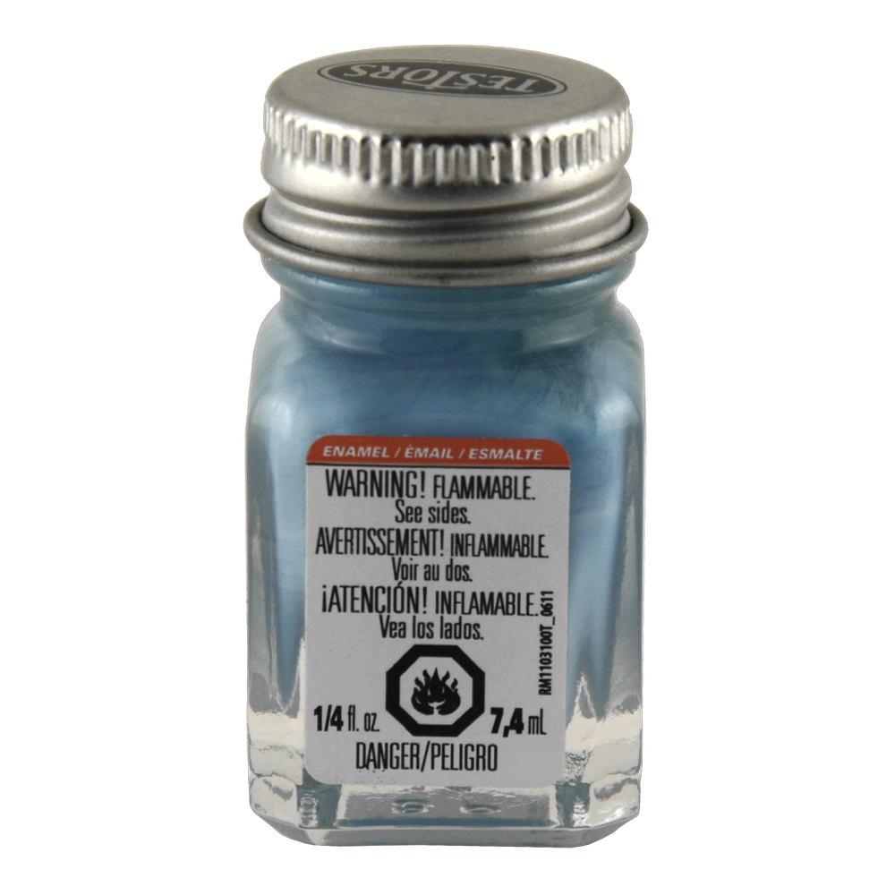 Testors Enamel 1/4 Oz Bottle Flat Sky Blue