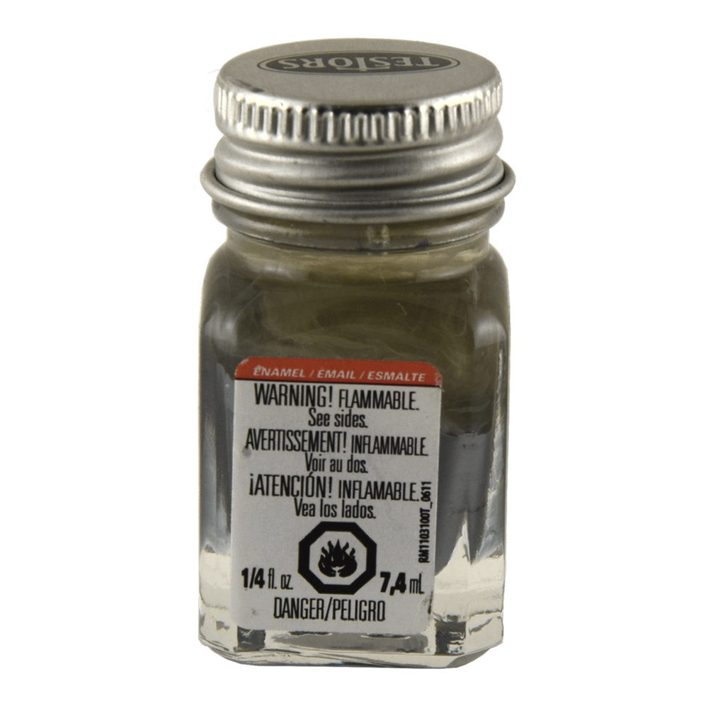Testors Enamel 1/4 Oz Bottle Flat Gray