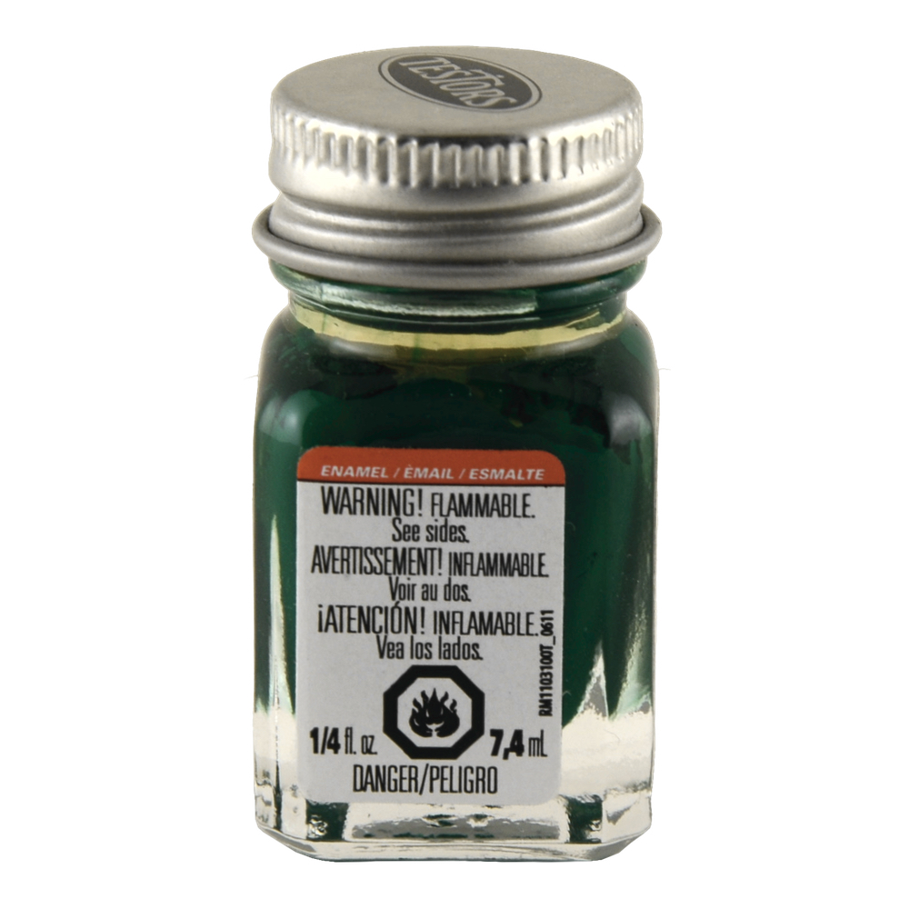 Testors Enamel 1/4 Oz Bottle Flat Od Green