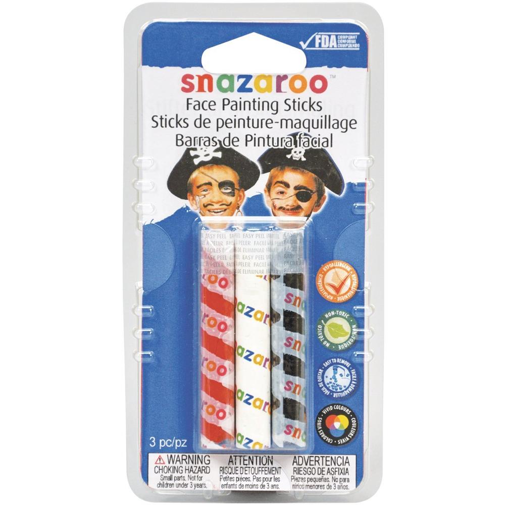 Buy Snazaroo 3 Face Paint Sticks Red White Black