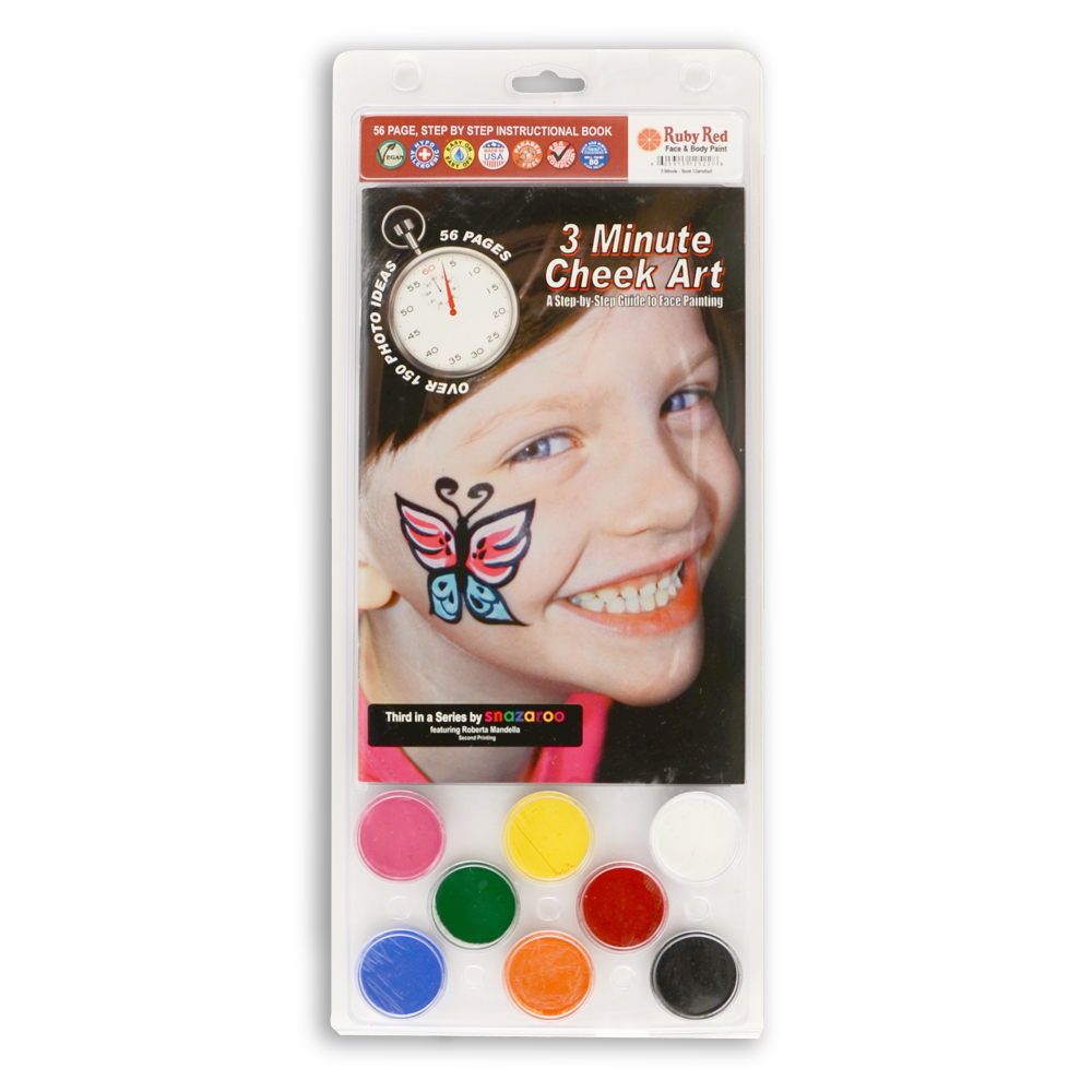 Rubyred8 Pc Facepaint Kit & 3 Min Art Book