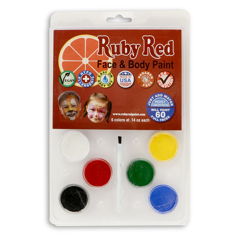 Ruby Red 6 Color Face Paint Kit