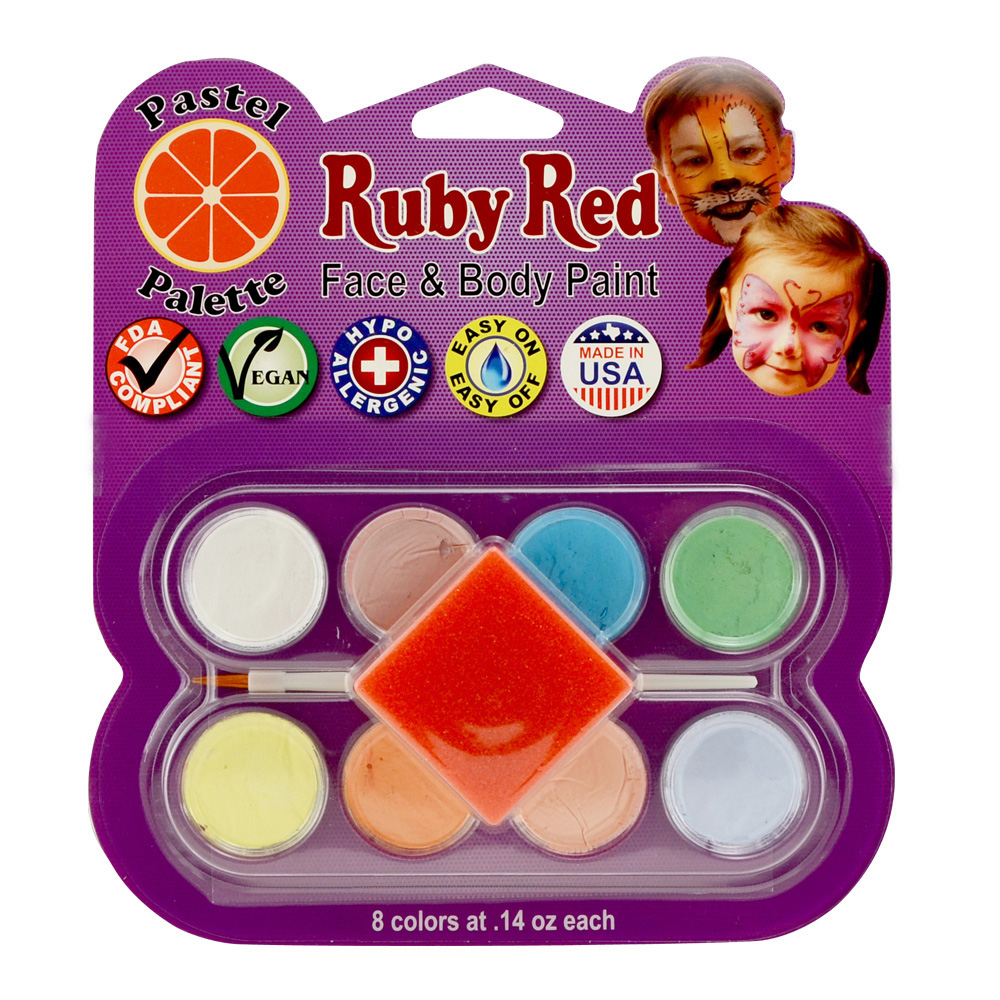 Ruby Red 8 Color Face Paint Kit Pastel
