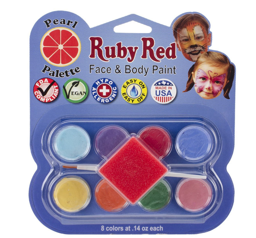 Ruby Red 8 Color Face Paint Kit Pearl