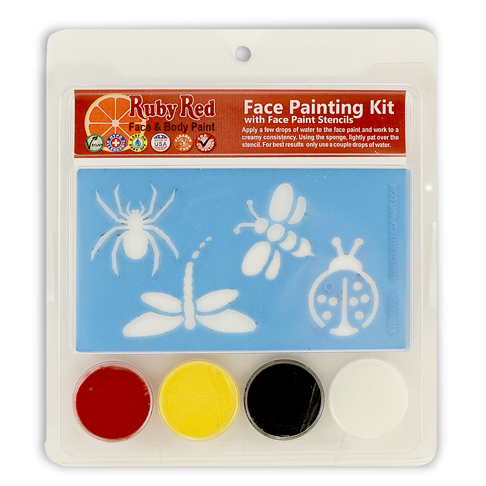 Ruby Red Bug Stencil Face Paint Kit